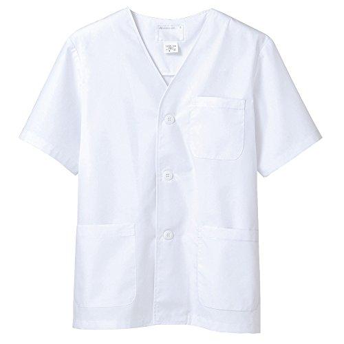 (モンブラン) Montblanc 調理衣 和食 白衣 半袖 衿なし 男性用 抗菌防臭加工 [O157対応] 1-612 3L