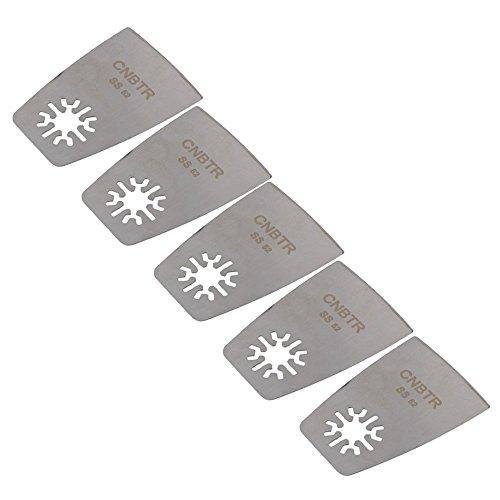 cnbtr 52mm Remasuri Universal Edelstahl-Flachschaber oszillierendes Multi Tool Sägeblätter Set von 5