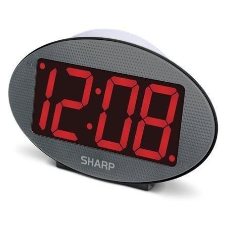 SHARP 3' Red LED Jumbo Display Clock with Night Light