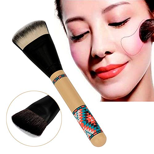 MEIYY Pinceau de maquillage Makeup 1Pcs Makeup Brush Double Sided Hair Dispersion Powder Blush Eyebrows Eyelashes Brushes