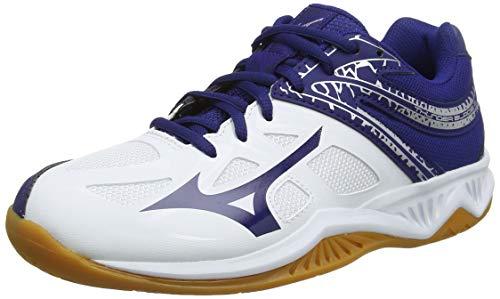 Mizuno Thunder Blade 2, Zapatillas de Voleibol Unisex Adulto, Blanco Blanco Azul Plata 14, 45 EU