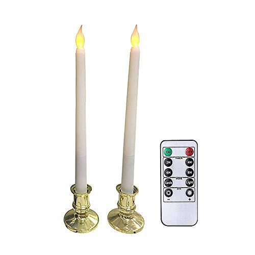 Candele Finte Fiamma Oscillante Candele LED Fiamma Oscillante Candele Elettriche Effetto Reale Candele A LED Lumino LED Candela LED con Fiamma Tremolante Candele Senza Fiamma