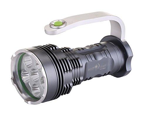 SKYRAY 8000 lumens 6 x CREE XM-L T6 LED Lampe de Poche Torche Main Spot pour extérieur ou d'intérieur