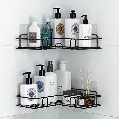 Home-Neat Duschkörbe Ecke Ablagen Ohne Bohren Metall Badregal Eckablage Duschablagen selbstklebend Badezimmer Wandablage für Shampoo