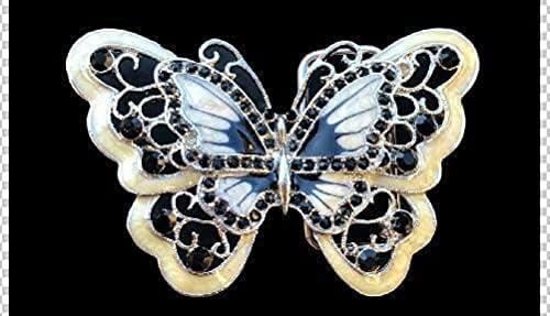 Shipping included Beige Rhinestone Glitter Butterfly Buckle Max 41% OFF Belt Belts Cool