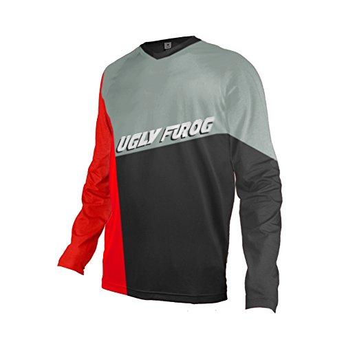 Uglyfrog 2018 MTB Downhill Trikot Kompressionsshirt Herren Kurzarm Fitness T-Shirt Freizeit Männer Laufshirt Printed und Klassisch Top Funktionswäsche SJFHB04