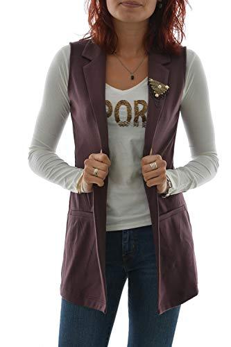 Only - Gilet, senza maniche, colore: Marrone marrone XS
