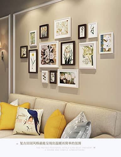 Shangfu Decoration Studio Gift Living Room Solid Wood Photo Wall White Modern Minimalist Combination Photo DIY
