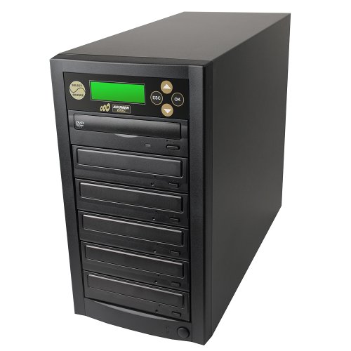 Acumen Disc 1 to 5 Target Discs DVD CD Duplicator Machine with Multiple 24x Writers Burners Drives (Standalone Audio Video Copy Duplication Device Unit)