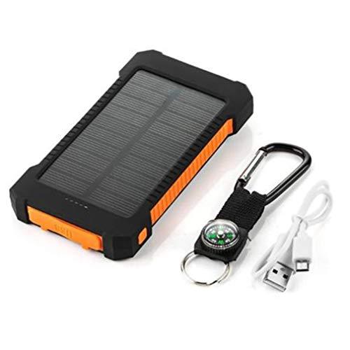 Leoboone Solar Power Bank mit großer Kapazität und Zwei USB-Anschlüssen für tragbare Solarbatterien Universelles Ladegerät für Mobiltelefone