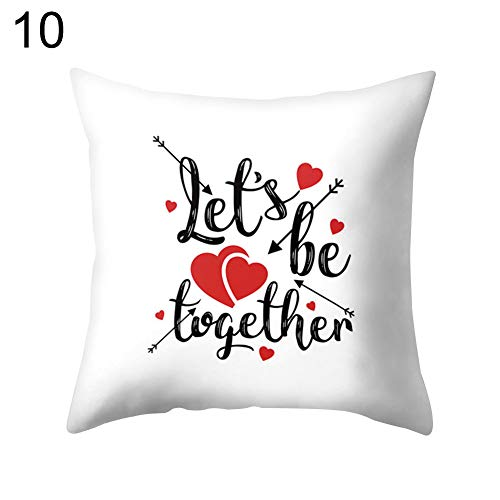 funie - Funda de cojín para sofá, Cama, Coche, Oficina, diseño romántico, Piel de melocotón de poliéster, 10#, 45cm x 45cm