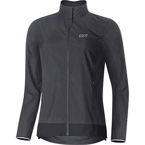 Gore Wear Damen Winddichte Fahrradjacke, C3 Women GORE WINDSTOPPER Classic Jacket, 36, Grau/Schwarz, 100276