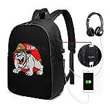 Zaino semper Fi US USB Carry On Bags 17 pollici Zaino per laptop per scuola di viaggio Busin