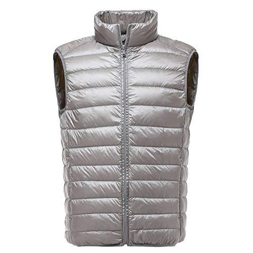 Nee brand De overtrek voor mannen winter ultra lichte witte eend kleding naar beneden mannen slim shirt van Antivento Warm Gilet