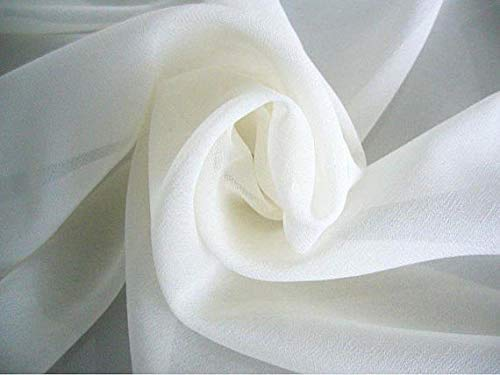 120' Wide (10ft Wide) Sheer Voile Chiffon Fabric - Perfect for Draping Panels...