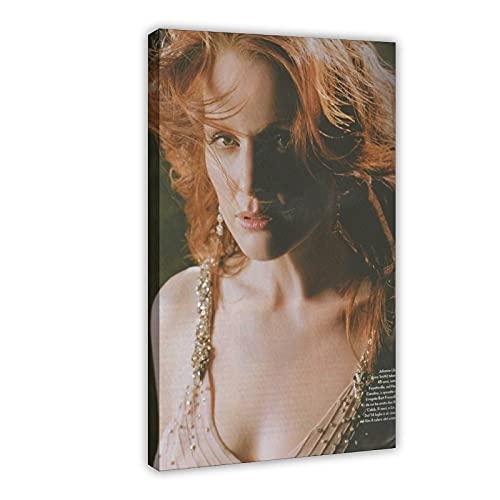 American Film And Television Attrice Julianne Moore 4 Poster di tela per camera da letto Decor Sport Paesaggio Ufficio Camera Decor Regalo 50 × 75 cm Frame-style1