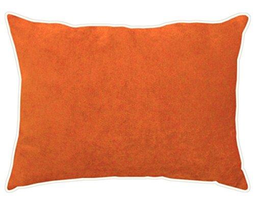 APELT Kissen Tahiti, gefüllt Samt orange Größe 30x40 cm