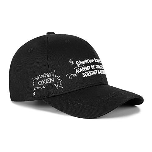 Txrh Gorra de Beisbol Calle Lesbianas Gorra De Béisbol Personalizada Bordó El Casquillo Negro Sombrero De ala Curva De Graffiti (Color : Black, Size : XL(58-62cm) Adjustable)