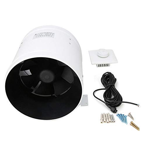 75W Ventilatore intubato 8'710CFM Ventilatore a condotto in linea Ventilatore a soffitta attico CA 220 V con regolatore di velocità regolabile 0-100% Aspiratore a condotto assiale per aspirazione reg