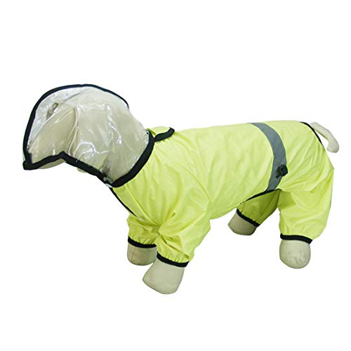 SUIWO Hond Regenkleding regenpak Lichtgewicht Waterdichte Regenjas Gear met Ventilation Hat Small for Walking Medium Maat Large Compleet (Size : 26)