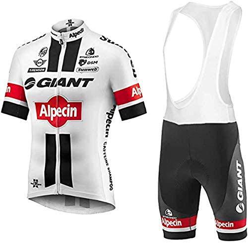 logas Tuta Ciclismo Uomo Estive Magliette MTB Maniche Corte + Pantaloncini Imbottiti Completo Bici da Corsa PRO