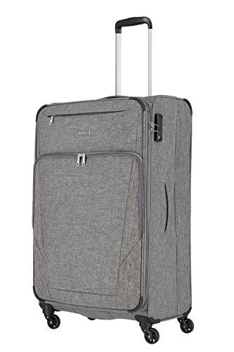 travelite 4-Rad Weichgepäck Koffer Größe L mit Dehnfalte + TSA Schloss, Gepäck Serie JAKKU: Leichter Trolley im klassischen Design, 092549-04, 79 cm, 90 Liter (erweiterbar auf 97 Liter), anthrazit