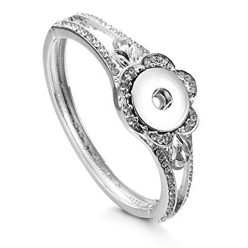 RQWY Armband Neueste Taste Schmuck Antik Silber Snaps Armband Legierung Für Frauen Herren DIY Druckknopf Armband