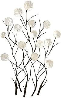 capiz flower wall art