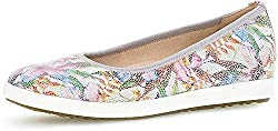 Gabor 42.450 Women Ballet Flats,Classic ballerinas,flats,summer shoe,slip-on,casual shoe,sporty,Comfort Sport,Ladies,weiss/multicolor(White) Outer material: Suede Leather, Inner material: Leather, Outsole: Synthetic, Cover sole: Genuine leather Heel ...
