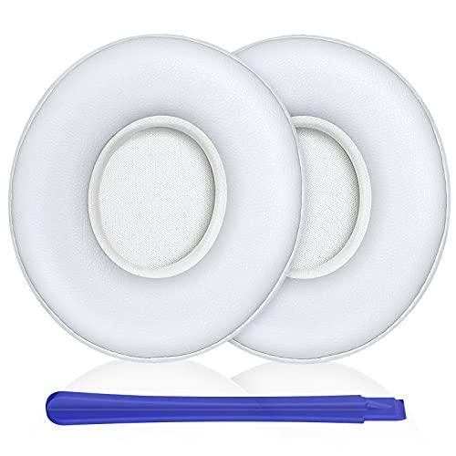 Almohadillas Beats Solo 3 & Solo 2,TesRank Repuesto Espuma para Auriculares Bose Beats Solo 3 & Solo 2 Almohadilla Reemplazo -Blanco
