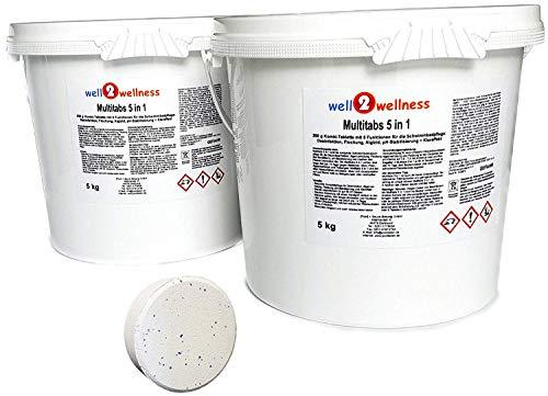 well2wellness Chlor Multitabs 5 in 1 200g mit 93% Aktivchlor 10kg (2 x 5kg)