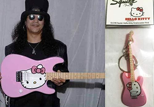 Llavero de guitarra Squier Stratocaster Hello Kitty