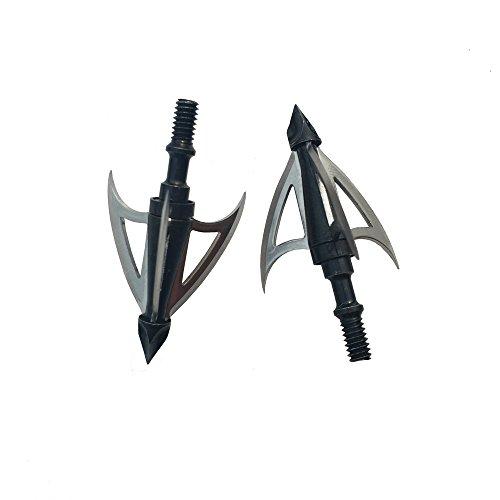 SHARROW 6 Stück Pfeilspitzen Klinge Jagdspitzen 100 Grains Broadheads Für Armbrust Compound Bogen