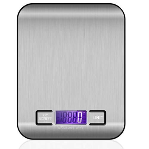 Roestvrijstalen Keukenweegschaal Elektronische Weging 5Kg 10Kg Huishoudelijke Keukenweegschaal Voedsel Mini Gram Weegschaal Sieraden (zilver)