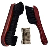 Billiards Pool Table and Rail Brush Set with Cloth Cue Shaft Slicker (Wine red)