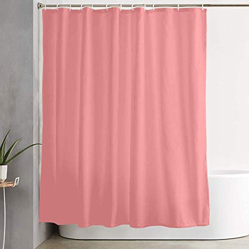 DHGER Cortina de la Ducha MAHENSHANGM Bathroom Shower Curtain Light Salmon Pink...