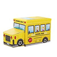 収納スツール おもちゃ箱 折りたたみ 収納ボックス フタ付き オットマン 子供 可愛い 大容量 耐荷重60kg 収納ベンチ 座れる収納ボックス スペース活用 車のデザイン
