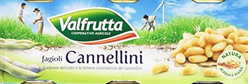 Valfrutta - Fagioli Cannellini - 4 confezioni da 3 pezzi da 400 g [12 pezzi, 4800 g]