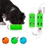 Edupet 06021AB Hundespielzeug, Dog'n'Roll, Intelligenzspielzeug für kleine Hunde, Leckerli-Spender, 10 cm, Grün