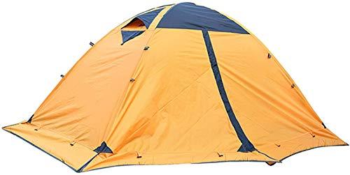 Tienda de campaña ligera, Tienda de cúpula para acampar camping Tienda turística 2 persona Tienda de invierno Tienda de doble capa Mochilero Gazebo al aire libre (Color: Amarillo, Tamaño: 115x140x210c