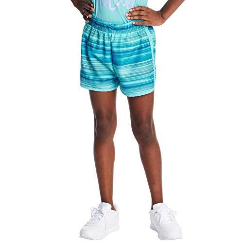 "C9 Champion Girls' 2"" Woven Running Shorts, Speed Stripe/Blue, M"