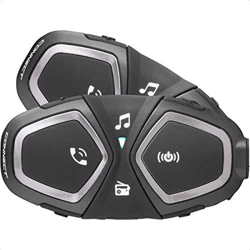 Interphone INTERPHOCONNECTTP Bluetooth Auriculares Manos Libres para Casco Moto Dual, Negro
