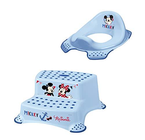 2er Set Z Disney Micky Maus WC Aufsatz + Hocker zweistufig Toilettentrainer