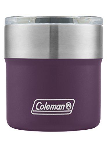 Coleman Sundowner Insulated Stainless Steel Rocks Glass, Violet, 13 oz.