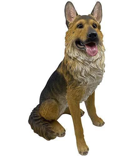 Dehner Dekofigur Schäferhund, ca. 59 x 44 x 26 cm, Polyresin, braun