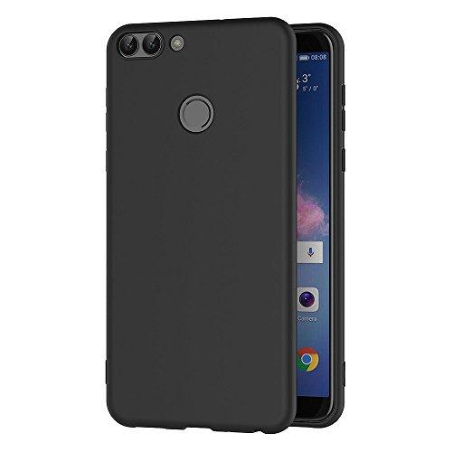 AICEK Cover per Huawei P Smart, Cover Huawei P Smart Nero Silicone Case Molle di TPU Sottile Custodia per Huawei P Smart (5,65 Pollici)