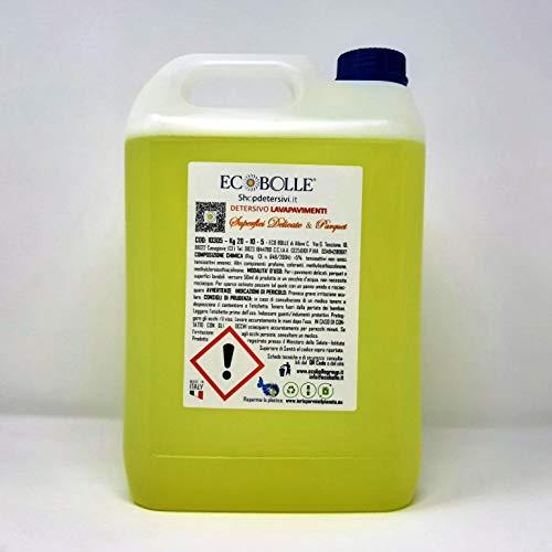 ECOBOLLE Detersivo Lavapavimenti Parquet & Superfici Delicate, Concentrato e Super Profumato (20KG)