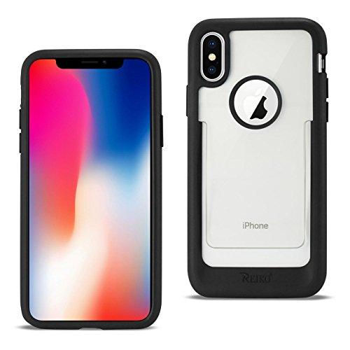 Reiko - iPhone X/iPhone Xs Belt Clip Polymer Case - Clear Black