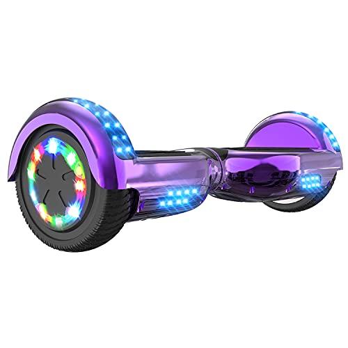 FUNDOT Hoverboards,Hoverboards Enfants,Scooter Auto-équilibré 6,5 Pouces,Hoverboards avec de Belles lumières LED,Hoverboards avec Haut-Parleur Bluetooth,Cadeau Enfants