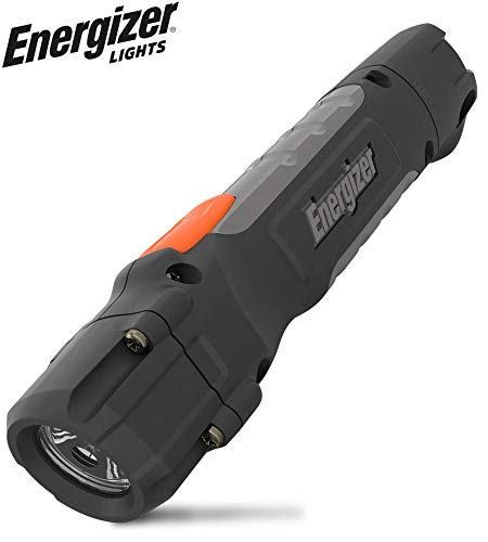 Energizer HC-300 LED Flashlight, IPX4 Water Resistant, Maximum Durability, Smart Dimming LED, High-Performance Task Light, Batteries Included